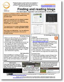 Finding and reading blogs