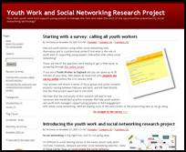 Youth Work and Social Networking Research Project Launched