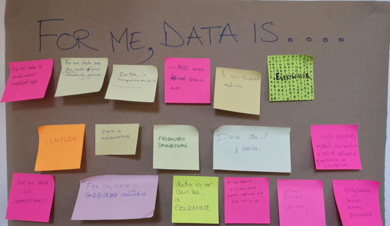 For me, data is... (post-it notes)